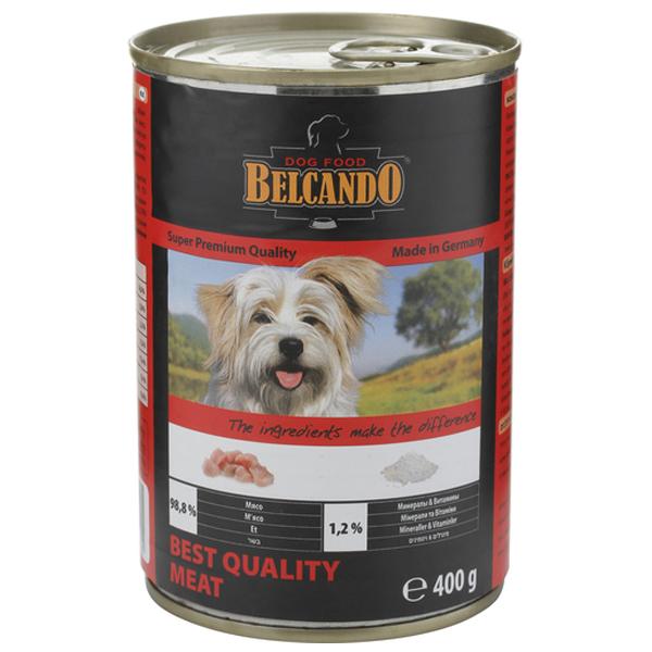 Консервы BELCANDO BEST QUALITY MEAT для собак всех пород с отборным мясом 400гр