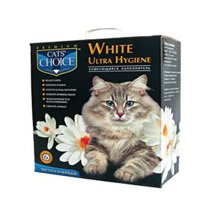 Наполнитель для кошек Cats Choice бетонитовый белый 6л