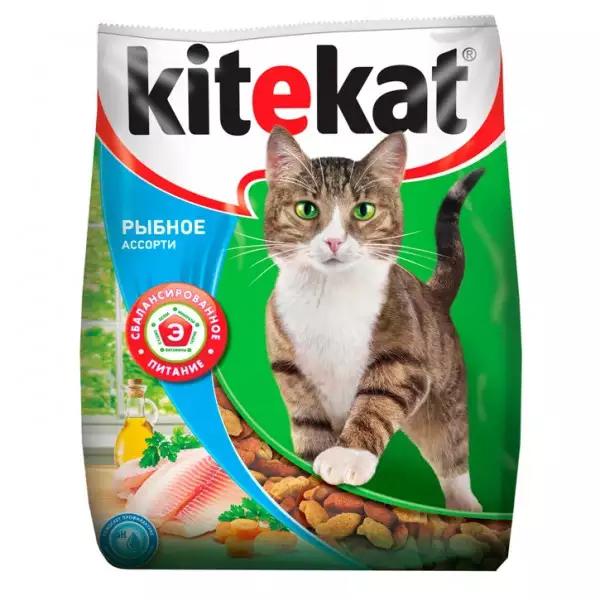 Корм сухой Kitekat Рыбное Ассорти для кошек с рыбой 0.35кг