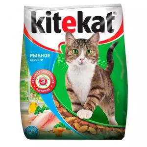 Корм сухой Kitekat Рыбное Ассорти для кошек с рыбой 1.9кг